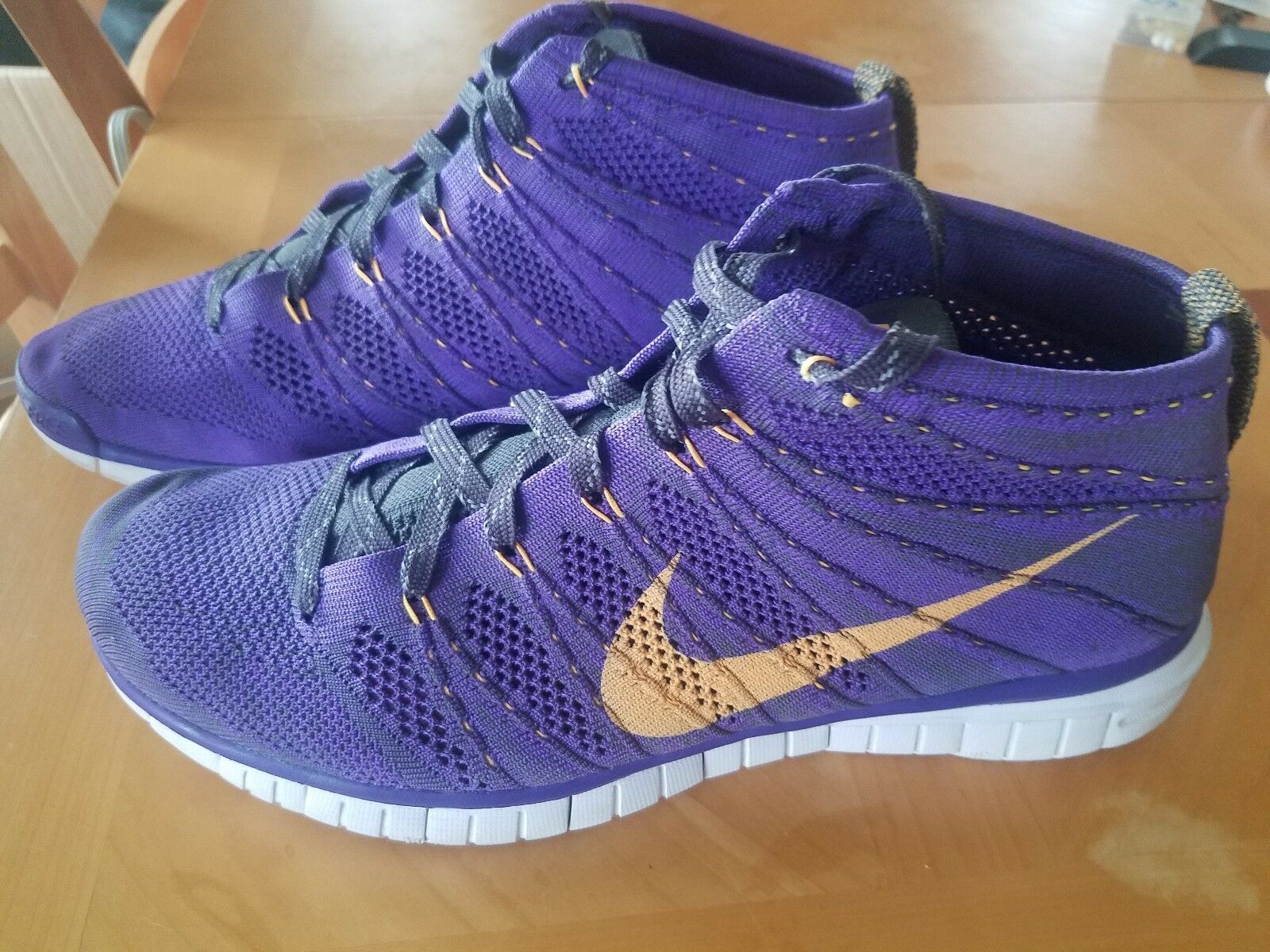 AWESOME NIKE FREE FLYKNIT TRAINER CHUKKA 639700-500 PURPLE RUNNING SHOES SZ 11