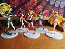 Anime Sailor Moon 18cm Mercury Venus Jupiter Mars 5pcs//set PVC Figure New Loose