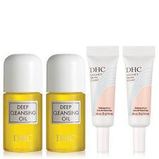 DHC Deep Cleansing Oil Mini and Velvet Skin Coat Mini, 4 Pack, samples included