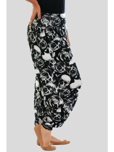 Ladies Alibaba Trousers Long Harem Baggy Pants Plain and Printed Plus Size 8-26