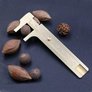 80mm-Mini-Vernier-Caliper-Brass-Handy-Sliding-Gauge-Pocket-Ruler-Measuring-Ruler