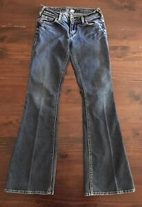3a8ab825 Silver Jeans ~ Western Glove Works AIKO ~ Medium/Dark Wash Sz 27 x ...
