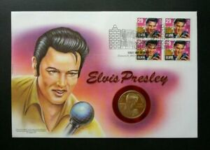 [SJ] USA Elvis Presley 1993 Singer Artist Famous Idol Rock Roll FDC (coin cover)