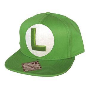 Image is loading NINTENDO-Super-Mario-Bros-Luigi-Logo-Snapback-Baseball- 043dd5a18a4