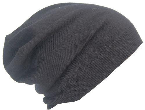 Cool 4 Kashmir Summer Beanie Black Ultra Thin Elegant Chemo Hat sb25