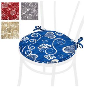 Cuscini Tondi Per Sedie Cucina.Dettagli Su Cuscino Coprisedia Rotondo Moderno Cuscini Seduta Sedie Cucina Cuori Laccetti