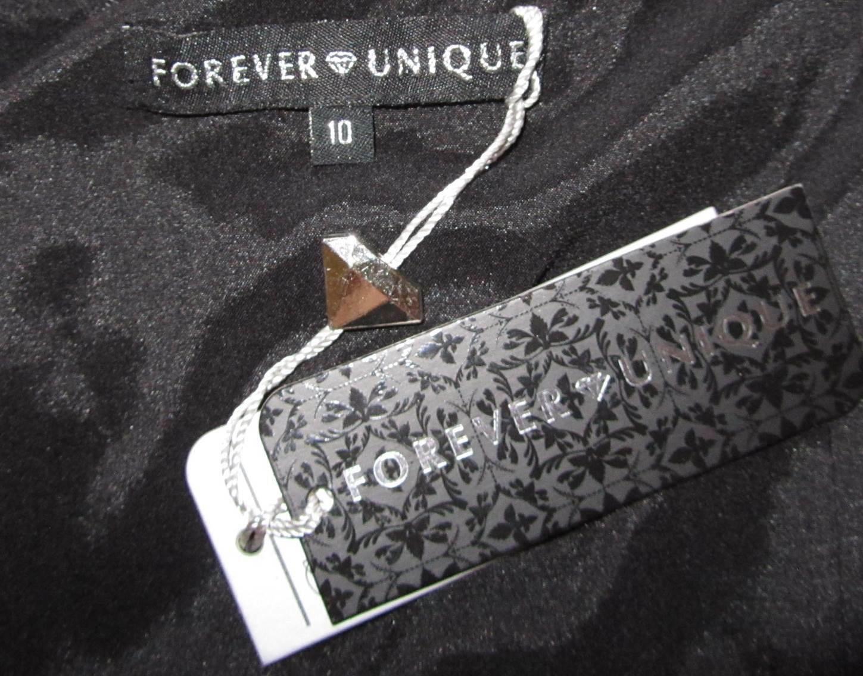 NUOVO Forever unico increspato raso raso raso Bodycon partito Vestito Monospalla 7262e6