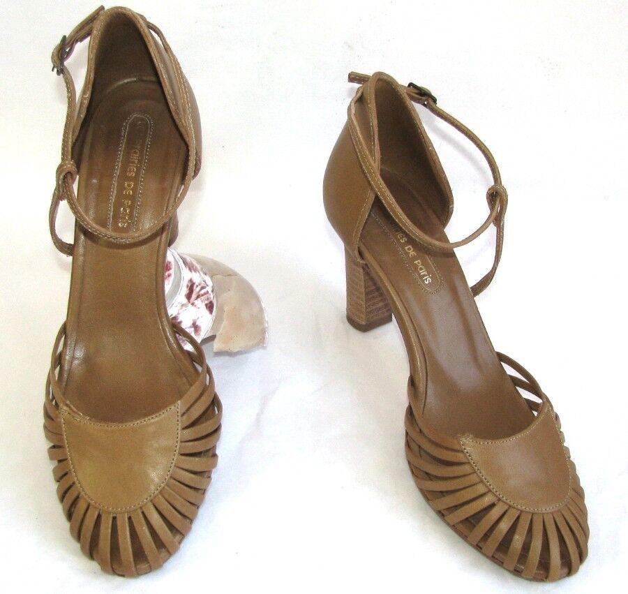 XAVIER DANAUD - shoes TALON 8.5 CM CUIR & TULLE PLATINE 36 - EXCELLENT ETAT