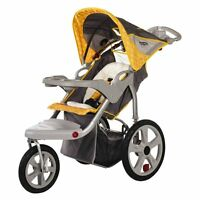 Instep Grand Safari Swivel Single Jogging Stroller, Gray/yellow on sale