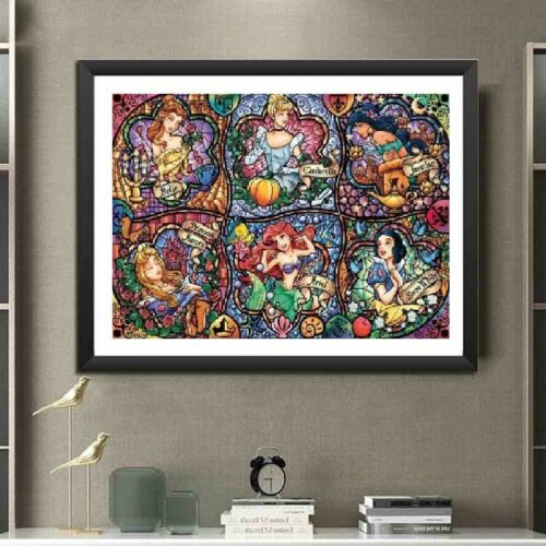 UK Six Color Beauty Full Drill 5D Diamond Painting Embroidery Cross Stitch QW
