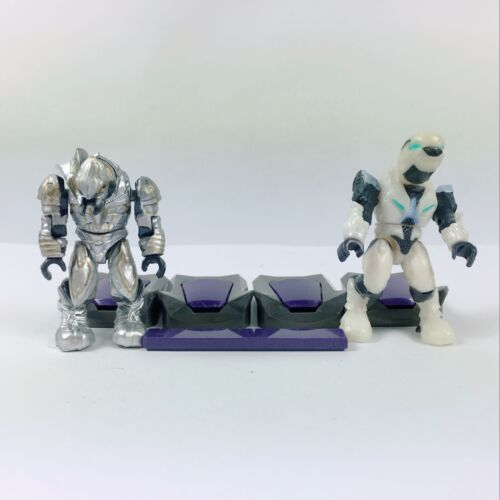 2x Mega Bloks 96941 Halo Covenant Silver Elite ARbiter /& White Elite Ultra Pilot