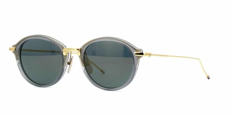 Begeistert Authentisch Thom Browne Tb-011-g-t-gry-gld-46 Sonnenbrille Grau Gold / Neu 46mm