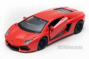 LAMBORGHINI-Aventador-LP700-4-ARANCIO-Welly-scala-1-34-39-modello-Auto-Giocattolo-Regalo