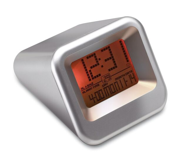 Digital LCD Display Travel Alarm Clock with Snooze & Auto Time Set