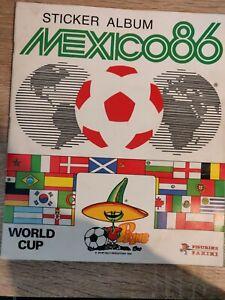 Panini Sticker Album Mexico 86 (with 266 placed Stickers)(+60%) MARADONA