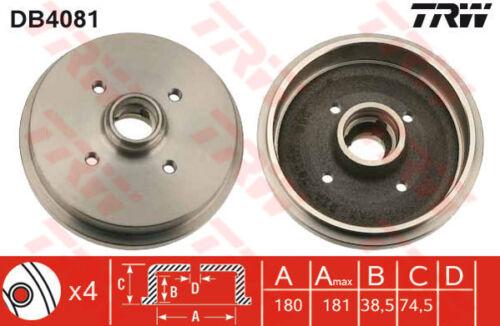 par set Tambores de freno 2x Trasero 180,0 mm DB4081 TRW 171501615 C 191501615B Calidad