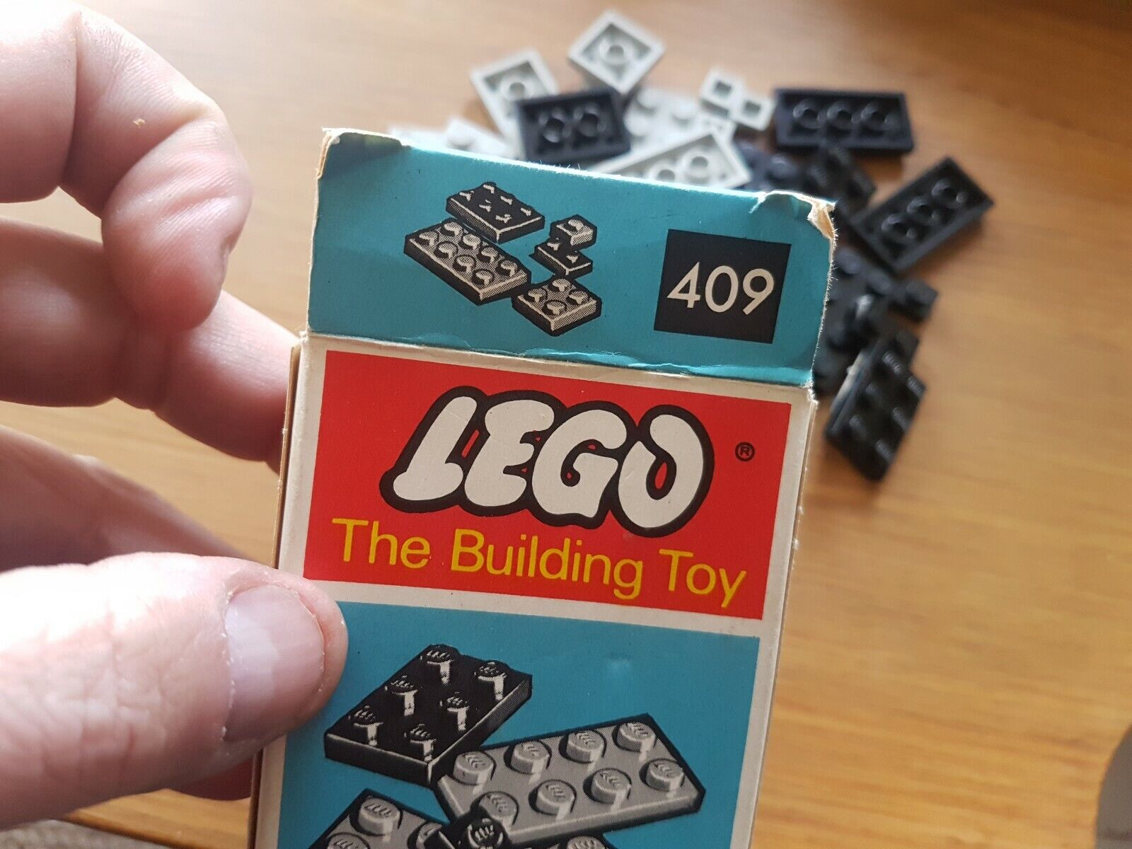 Vintage Lego grau and schwarz flats New Old Stock    409 409 6f6252