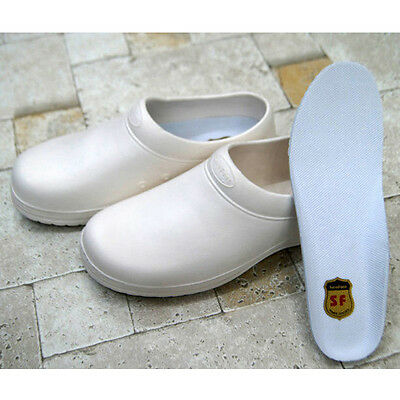 Safety Non-Slip Shoes Cushion Chef Shoes  Safety Water Kitchen Bathroom White