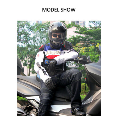 Riding Tribe Motorcycle Jacket Motocross Off-Road Racing With Armor 5pc EVA Gear