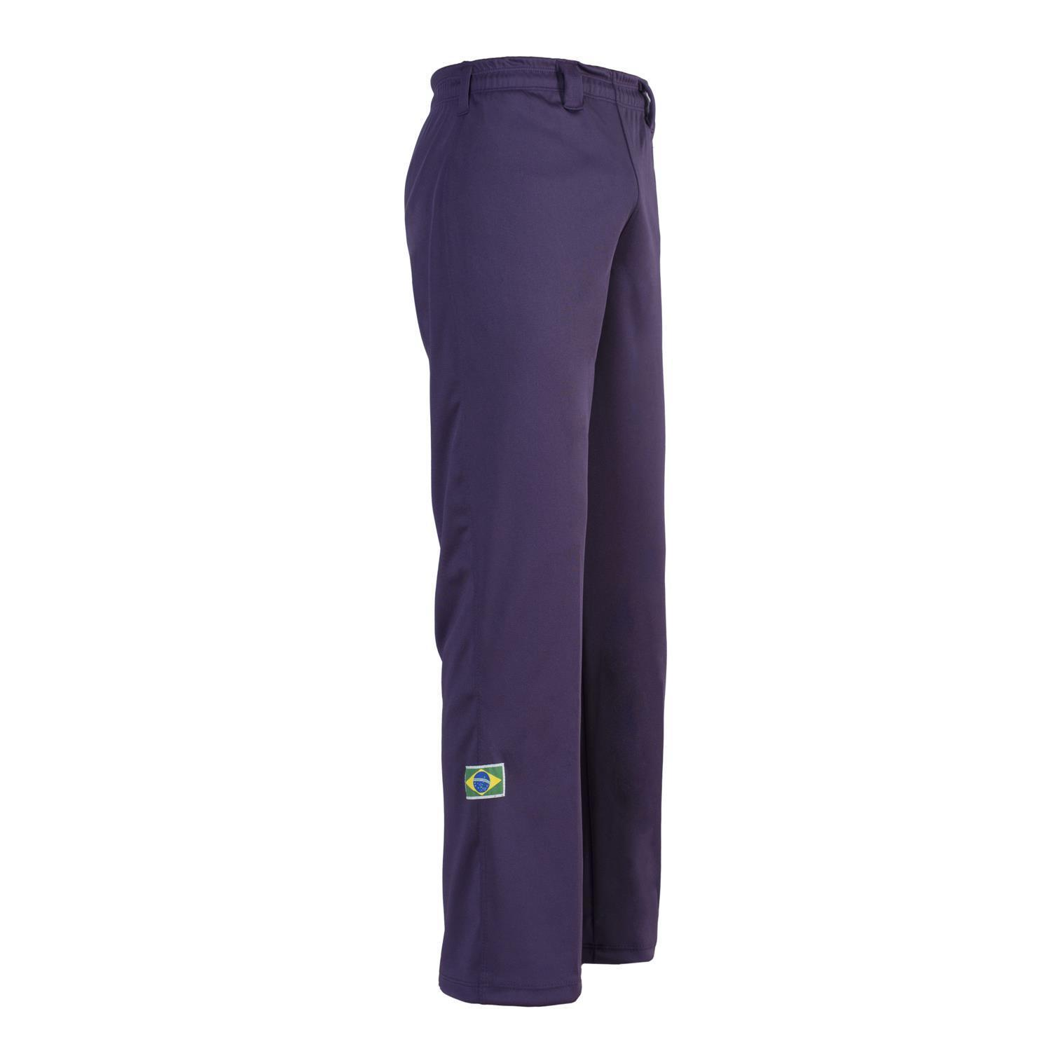 Unisex Purple Brazil Capoeira Abada Martial Arts Elastic Trousers Pants 5 Sizes