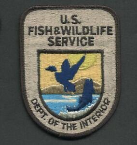 Vintage DEPT. OF THE INTERIOR U.S. FISH & WILDLIFE SERVICE Shoulder Patch Unused