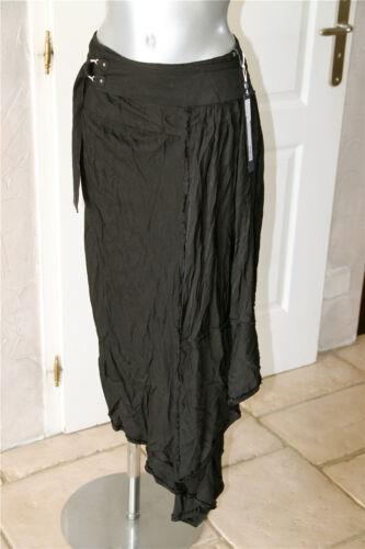 Étiquette 38 Noire Asymetrique Portefeuille Use Taille Skirt High Jupe Neuve qUpnza
