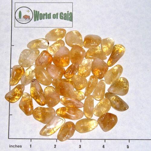 tumbled 1//2 lb bulk stones quartz golden CITRINE /'A/' grade medium