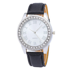 Luxury-Womens-Crystal-Leather-Stainless-Steel-Watch-Analog-Quartz-Wrist-Watches