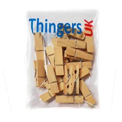 4.5cm x 1.2cm Natural Colour UK Supplier Wood clip peg Wooden Wide Pegs