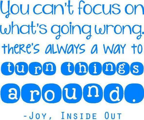 """IO1 Vinyl Wall Decal // Bedroom Decoration 20/""""x20/"""" Inside Out Movie Quote"""