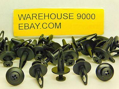 25 Pcs Radiator Shroud Retainer Push Type Clip For GM 20664092 For Ford N804570S