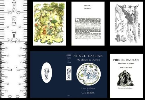 1:6 SCALE MINIATURE BOOK PRINCE CASPIAN PLAYSCALE C S LEWIS NARNIA
