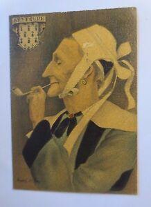 """Amical """"bretagne, Costumes, Coiffe De La Région Scoer"""" 1950 ♥ (47244)-afficher Le Titre D'origine"""