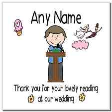 Thank You For Doing A Reading At Our Wedding Boy Personalised Coaster