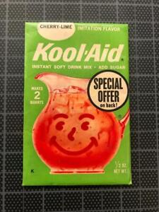 VINTAGE 1960's KOOL-AID FULL PACK Sealed Mip CHERRY LIME FLAVOR old store stock