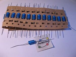 100uF 25V Axial Electrolytic Capacitor Lot of 10