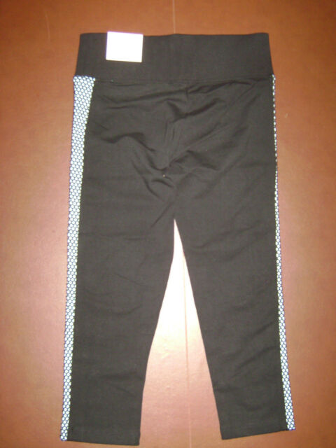 040727cb1f05b6 NWT VICTORIA'S SECRET PINK YOGA FLAT CROP LEGGING CAPRI PANTS size XS BLACK  BLUE