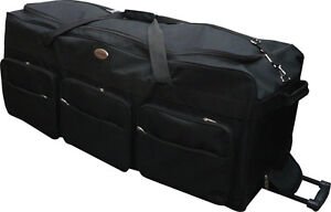 "42"" Polyester Rolling Duffle Bag Wheeled Travel Luggage Suitcasel - Heavy Duty"
