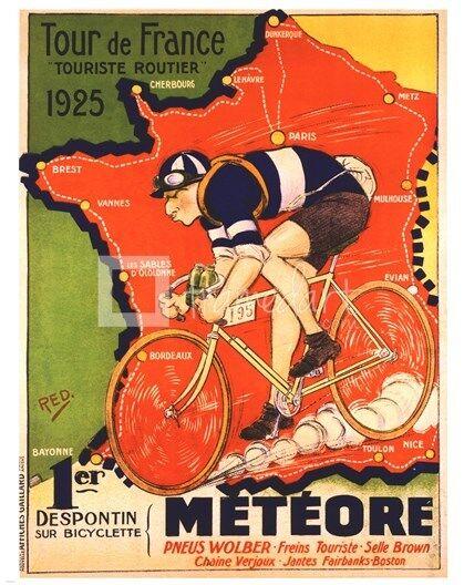 Vintage Cycling Poster Prints  24  x 36  1927 Tour de France