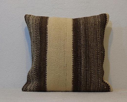 Natural Cream Pillow Cover 18x18 Kilim Pillowcase Tribal Ethnic Pillow Cover