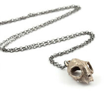 Rogue and Wolf Steel Cat Skull Chain Necklace, witches, gothic, taxidermy