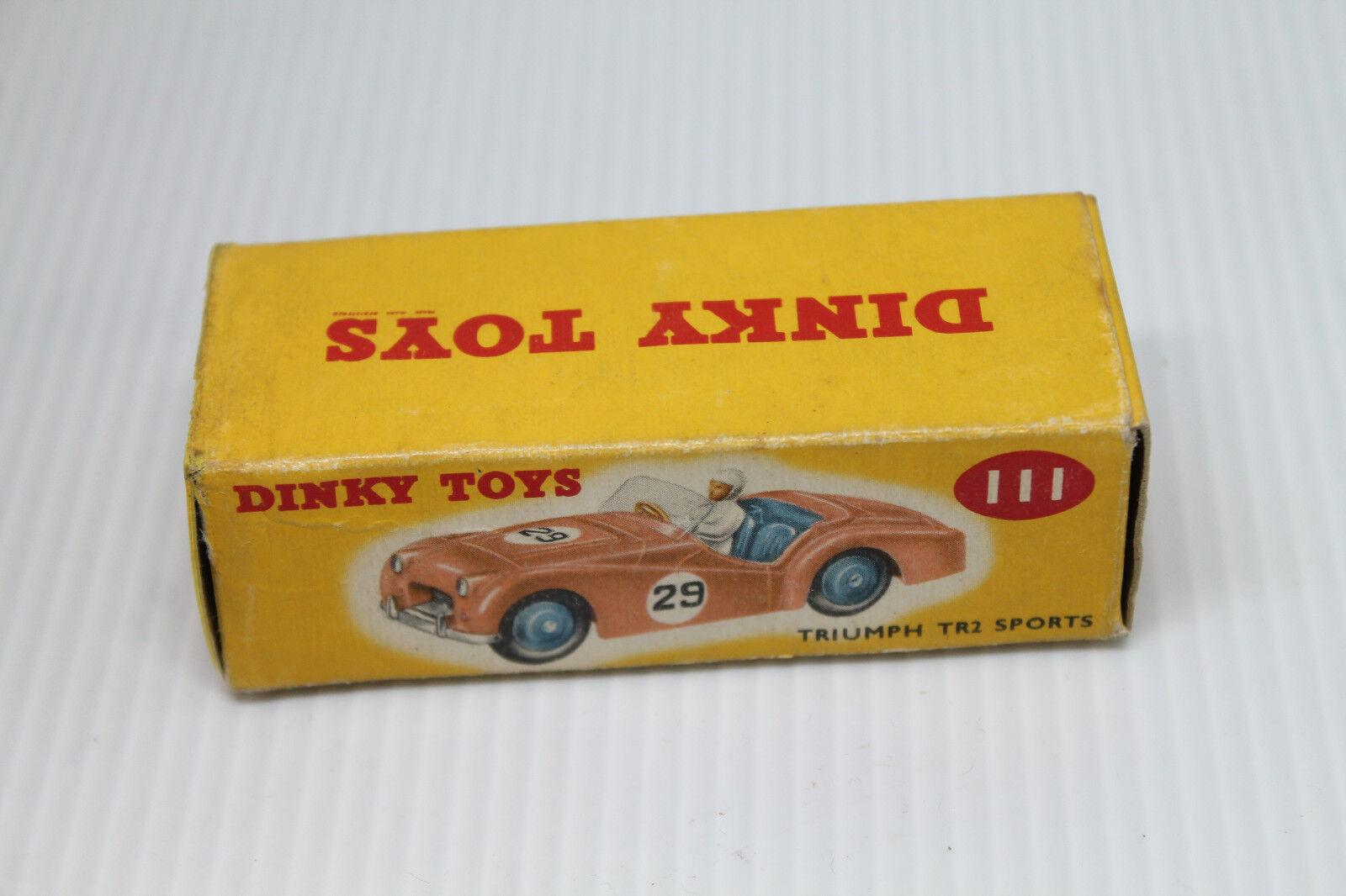 DINKY TOYS 111  Triumph tr2 sports sports sports car  Neuf dans sa boîte  1:43  1956 | Dans Plusieurs Styles  859cc1