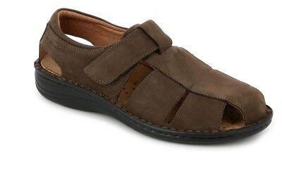 GRUNLAND sandali uomo plantare estraibile LINO SE0018