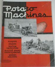 Ih Mccormick Potato Machines Planter Brochure International Harvester Farmall