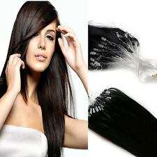 Micro Ring Easy Loop Bead Tip Indian Remy Human Hair Extensions 16''-26''100S50S
