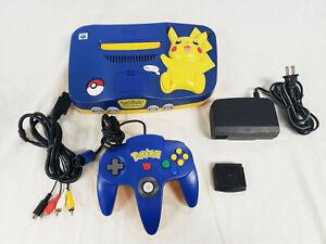 Nintendo 64 Pokemon Pikachu Edition System Yellow / Blue Console N64 NUS-101