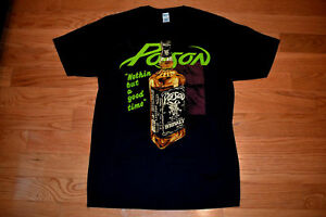 Details about POISON Concert Band Tour 80s Whiskey Nothin But a Good Time  Shirt Reprint New