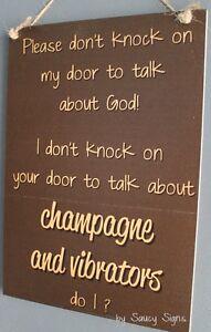 Door-Knockers-Champagne-Vibrator-God-Sign-no-soliciting-warning-vibrators