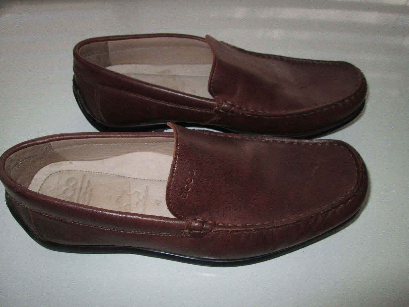 ECCO 59041 Amazing Leather Men's Loafer Slip-On Moccasin shoes Brown 8M UPC114