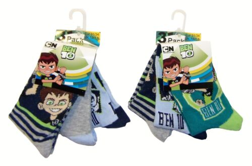 New multicolored pack of 6 Ben10 socks for kids boys and girls different sizes